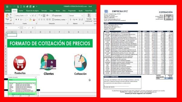 Formato de Cotización de Precios en Excel