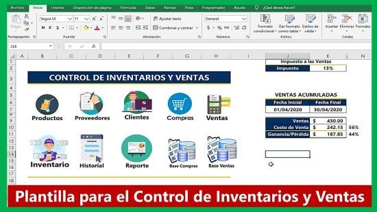 Control de Inventarios Compras y Ventas y Stock