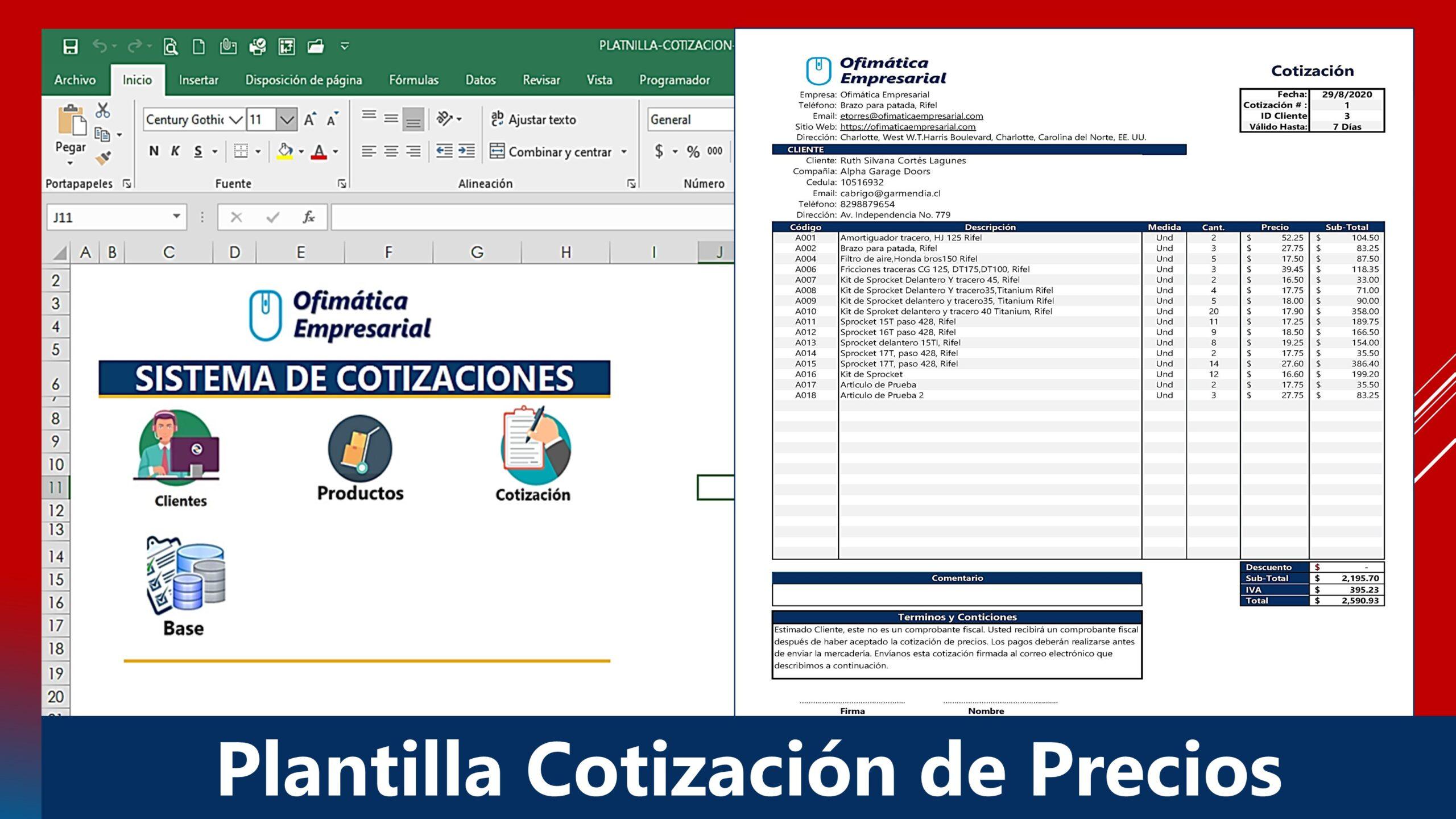 Formato de Cotizacion de Precios en Excel