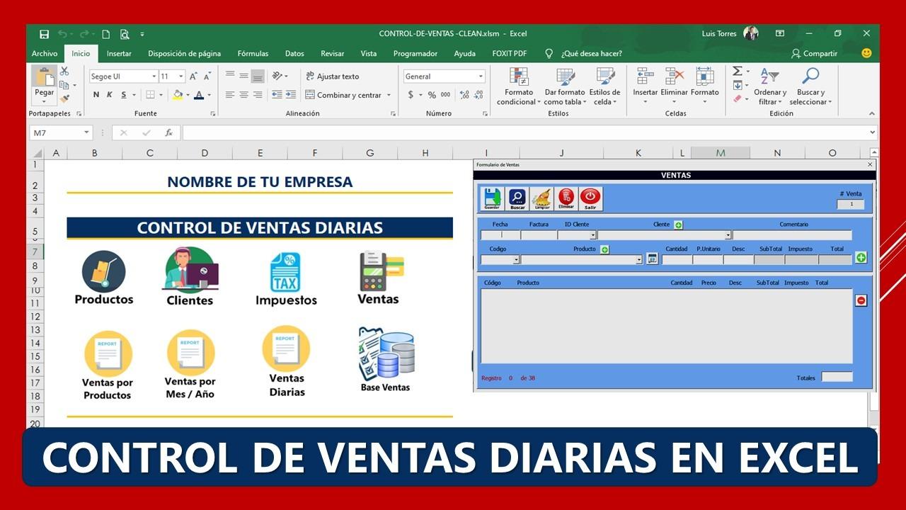 Control de Ventas Diarias en Excel - Macros VBA
